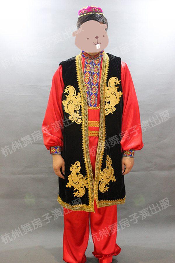 杭州男维吾尔族服装新疆舞服装演出服出租